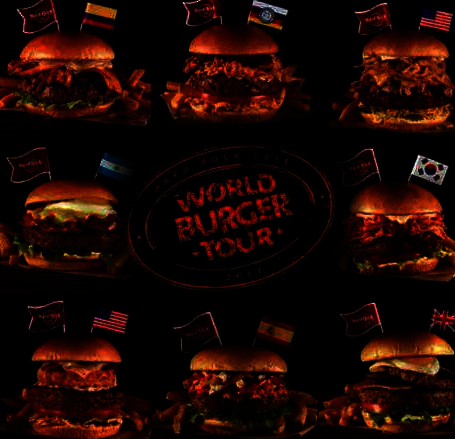 Hard Rock Cafe World Burger Tour poster