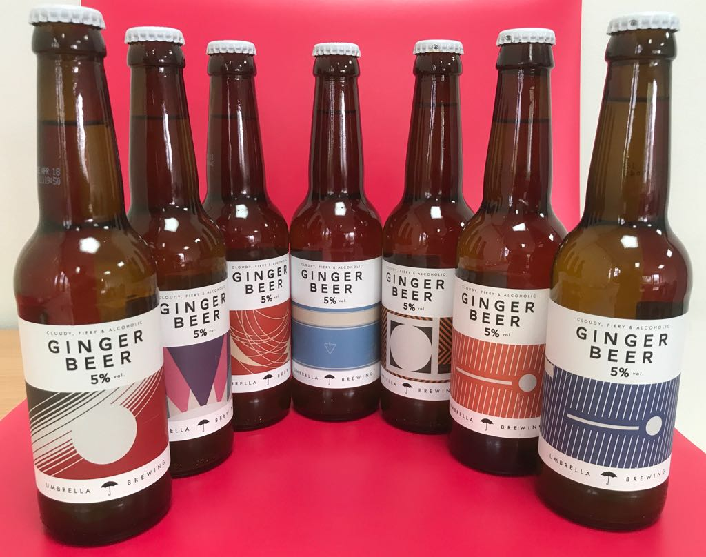 Umbrella Brewing ginger beer